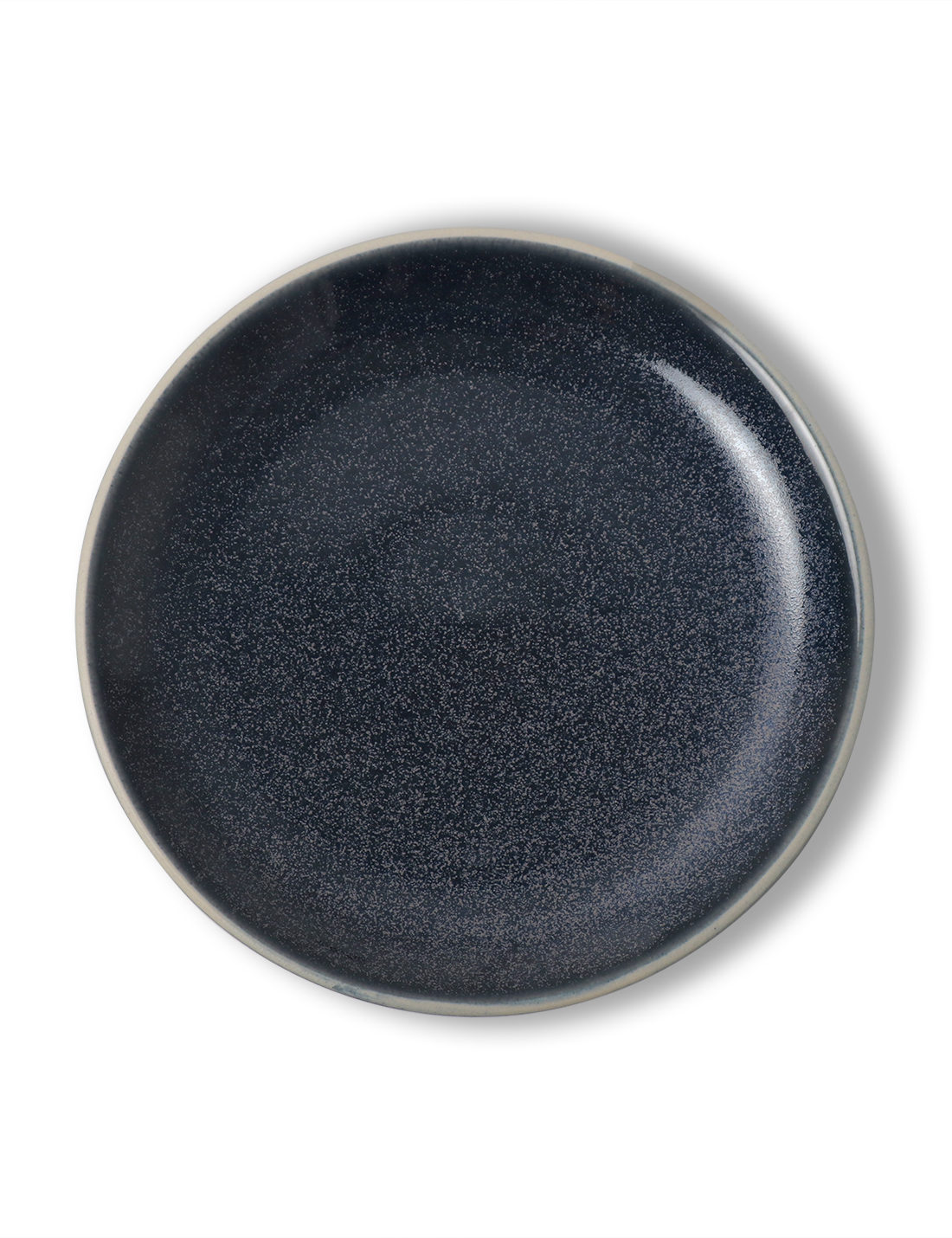 Coupe Breakfast Plate / Midnight Blue