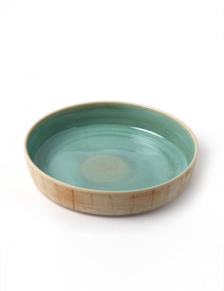 Patric - Handcrafted Ceramic Pasta plate / Icy Green